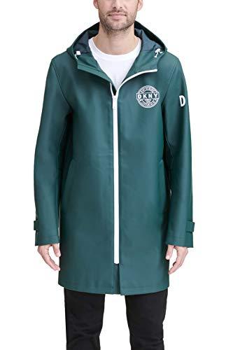 DKNY Herren Classic Long Rubberized PU Rain Jacket Regenjacke, armee-grün, Small