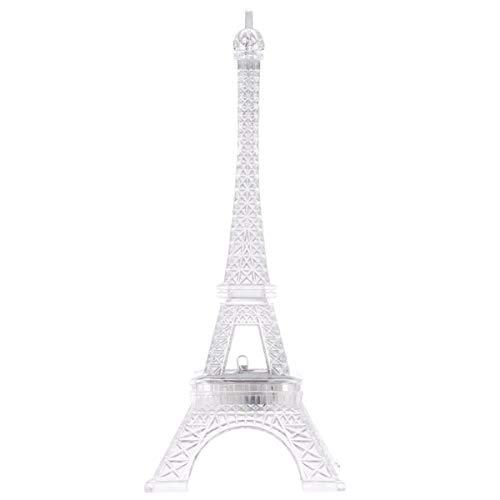 FRCOLOR LED Allume La Tour Eiffel Couleur Changeante Veilleuse Gâteau Toppers Noël Maison Table Centres de Table Décorations