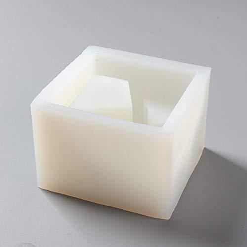 JLZK Moldes de Cemento Cuadrados Molde de Soporte de bolígrafo de Escritorio de hormigón Herramienta de artesanía Hecha a Mano