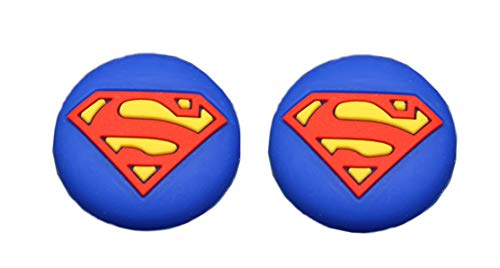 DC Comics DC Universe Controller Thumb Grip Silicone Caps for PlayStation PS5 PS4 PS4 Pro Slim PS3 PS2 Xbox One Xbox 360 Series S X Nintendo Switch Pro Controller Superman - Man of Steel