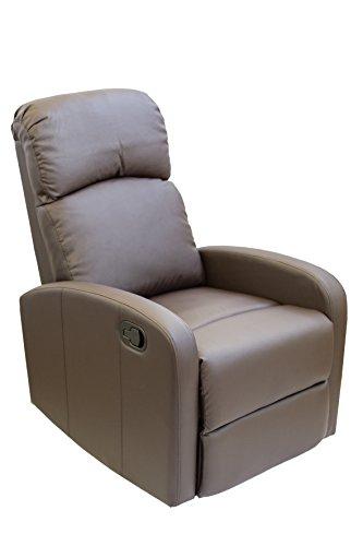 Astan Hogar Confort Sillón Relax con Reclinación Manual, Tapizado en PU Anti-Cuarteo. Modelo Premium AH-AR30600CH, Chocolate, ✅