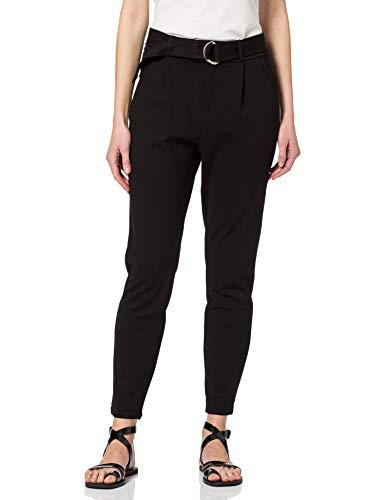 VERO MODA Damen VMEVA HR Loose Belt Pant GA Color Lässige Business-Hose, Black, M_32