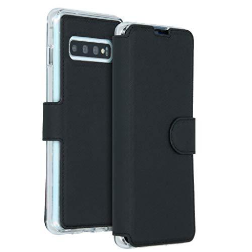 Accezz Funda para Samsung Galaxy S10 Negro - Funda Xtreme Wallet Case con Tarjetero y Cierre magnético - Resistente Funda para móvil Exterior, Resistente a los Golpes