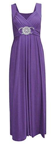 Home ware outlet Nuovo da Donna Damigella d' Onore Sera Party Prom Ball Cocktail Abito da Sposa Corto Maxi Vestito UK 8–26 Nero Purple