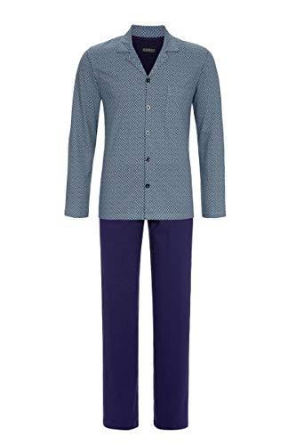 Ringella Herren Pyjama durchgeknöpft Marine 52 0541205, Marine, 52