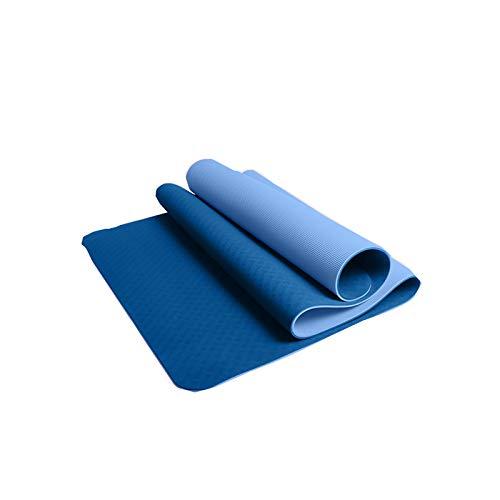Xin Hai Yuan Esterilla De Yoga - Esterilla De Yoga TPE Premium Antideslizante para Posturas De Yoga,Azul,183 * 80 * 0.8CM