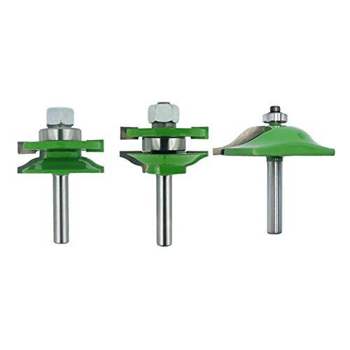 XCQ 8mm Griff 3 stücke Türplatte Schrank Zunge und Nut Maschine Bohrer Schrankschiene Holz Frässchneider Durable 0405