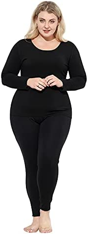 High end Warm Clothing With Mulberry Silk Protection Thermal Underwear Ladies Plus size 160 to 300 Pounds