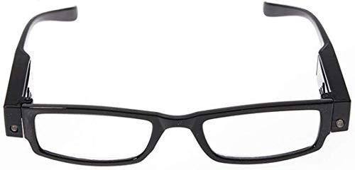 Dsnmm leesbril met LED-vergrootglas met Vorbiopia zwart, dioptrieën +1,5, Diopter+1