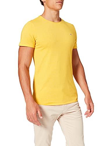 Tommy Jeans TJM Slim Jaspe C Neck T-Shirt, Pollen HTR, M Homme