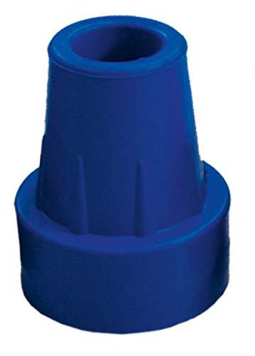 Krückenkapsel,blau, 18mm mit Stahleinlage, Saugkapsel, Gummipuffer