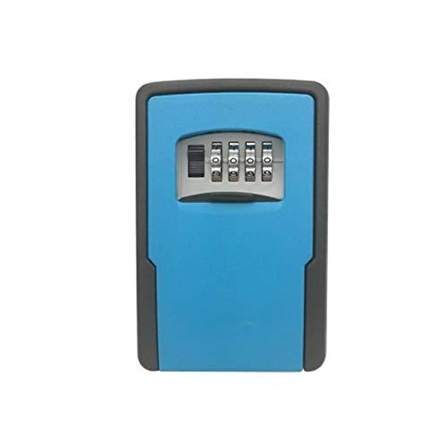 WanuigH Caja Fuerte para Llaves Ajustable de Bloqueo de Teclas Combinaciones de Almacenamiento de Bloqueo Caja de Almacenamiento Llave de la casa Más Confiable (Color : Azul, Size : One Size)