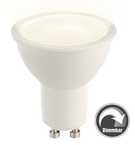 Luminea LED Spotlight: LED-Spot GU10, 6 Watt, 340 Lumen, A, warmweiß (3000 K), dimmbar (LED-Lampen GU10 warmweiß)