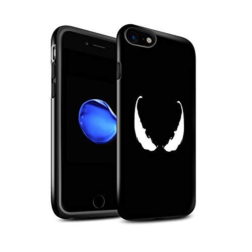 Stuff4 Lucidare Antiurto Custodia/Cover/Caso/Cassa del Telefono per Apple iPhone 7 / Maschera Venom Ispirato/Arte Anti Eroe Disegno