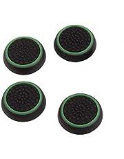 Uchwyty na kciuki silikonowe Joystick osłona kontroler gier kompatybilna z Ps3 Ps4 Xbox 360 Xbox One czarny zielony 4 szt. akcesoria do filmów i zdjęć telewizyjnych