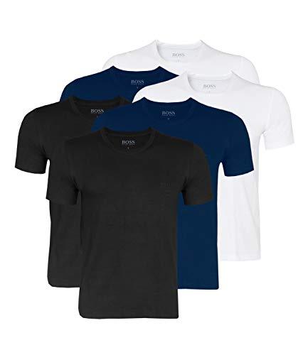 Crew Neck Hugo Boss 6er Pack Men/'s T-Shirt Undershirt short Sleeve Plain