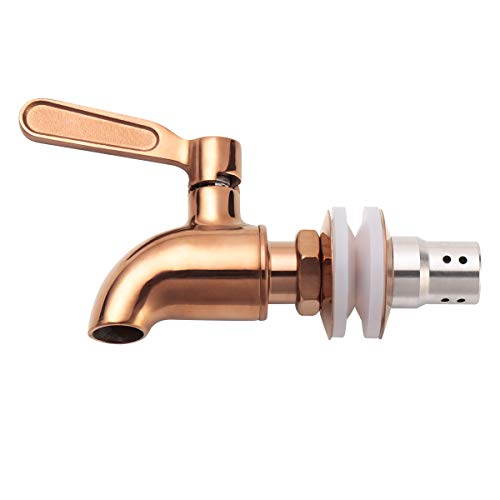 LYTY Beverage Dispenser Replacement Spigot Stainless Steel Polished Finished, Drink Dispenser Wine Barrel Spigot/Faucet/Tap with Anti-Clogging Cap
