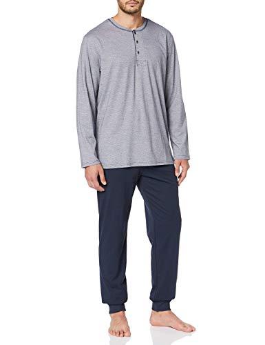Seidensticker Herren Lang Pyjama Sets, Blau (Dunkelblau 803), XX-Large (Herstellergröße: 110)