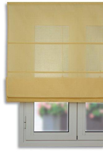 Estor plegable con varillas 75x175cm - Color Amarillo