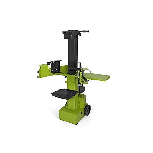 VITO Garden hydraulikspalter Brennholzspalter mit 9 Tonnen Spaltkraft, 230 V, Holzspalter vertikal, maximaler Schnittdurchmesser 8 - 30 cm, 3500 W Leistung, IP44, ausgestattet mit mehr Benutzerschutz