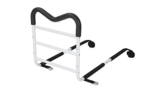 Drive Medical M-Rail Home Bed Assist Handle with Pouch, White