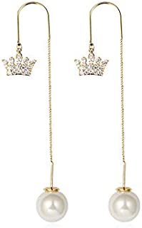 HXZB Arc, Couronne et Fleurs Trois modèles de Perles Longues Femmes Boucles d'oreilles Boucles d'oreilles de la personnali...
