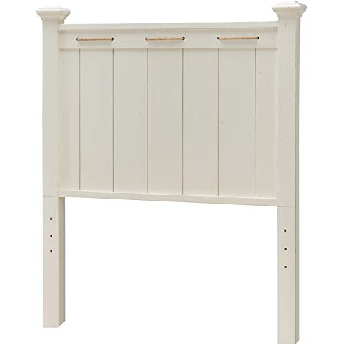 Legacy Classic Lake House Twin Low Post Headboard Pebble White Color Wood