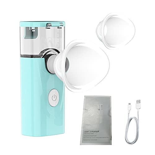 YGXS Nano Mist, Augenspray-Gesichtsdampfer Feuchtigkeitscreme Für Das Gesichtsgesicht Zerstäubtes Augentropfen-Spray Geeignet Zur Linderung Von Augenermüdung Und Zur Befeuchtung des Gesichts,Blau