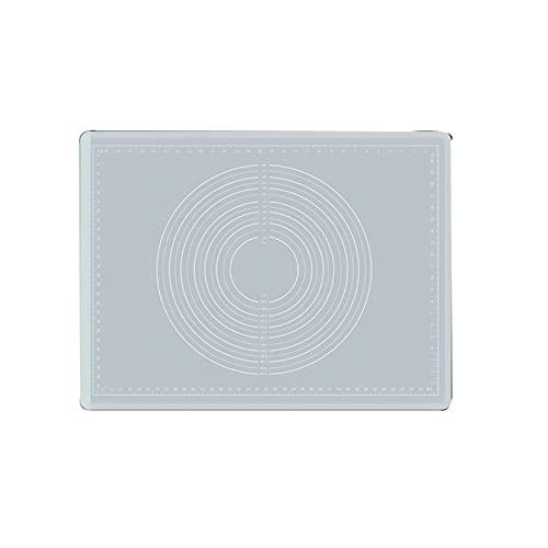 ZIYI Backmatte Silikon,Antihafte Backunterlage,Silikon Backmatte Teigmatte Wiederverwendbar für Fondant Management Pizza Matte,BPA Frei (transparent)