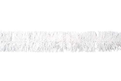 Butterfly Weihnachtsgirlande Lametta 2cm x 3 Meter Lamettagirlande Baumgirlande Christbaumdeko weiß