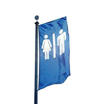 WC Toilette Icon Festival Fahne Flagge Werbefahne (100x300cm)