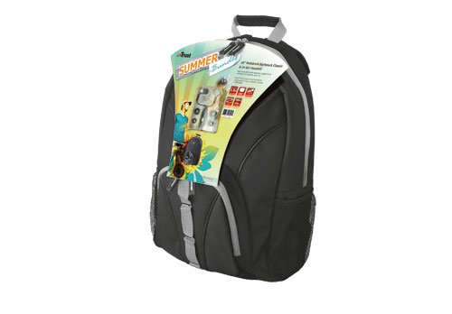 Trust Summer Bundle Laptop Rucksack 40.6 CM / 16 Inches with In-Ear Headset 2 x 3.5 MM), Black