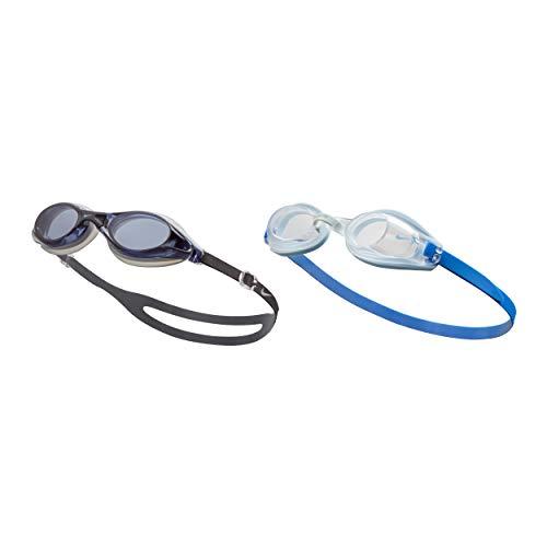 NIKE Men's Valiant/Hydra Fem 2-Pack Swim Goggles, Smoke/Clear, One Size