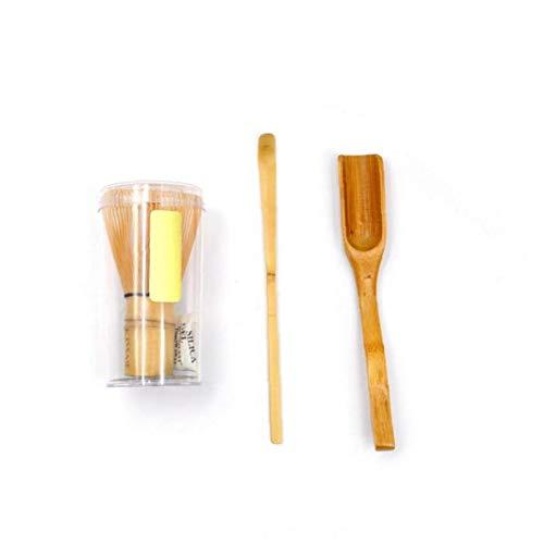 3 Piezas De Juego De Te Matcha Revuelva Te Cuchara De Te Cuchara De Te De Bambu Tradicional De Arte Crafts