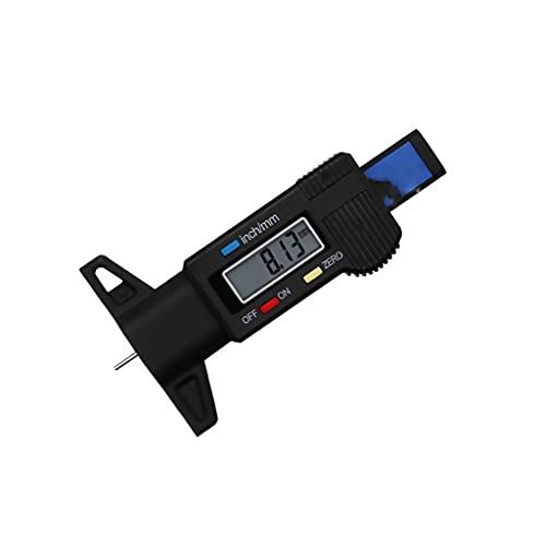 XJJZS Digital Car Llano Neumático Pisada Profundidad Medidor Métrico Auto Neumático Desgaste Detección Midistro Herramienta Calibrador Espesor Medidor Sistema De Monitoreo (Color : Black)