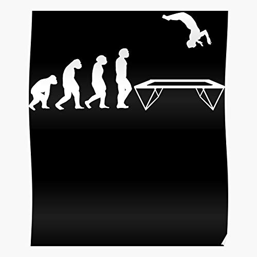 Gymnast Hall Jumping Trampoline Jump Birthday Leap Jumper Children I Fsgteam- Impressive and Trendy Poster Print decor Wall or Desk Mount Options