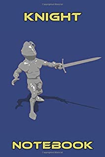 Knight Notebook - Sword Stab - Blue - College Ruled