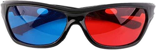 YQSL Universal 3D Brillenrahmen Schwarz Rot Blau 3D Glas für stereoskopische Filmspiele-China