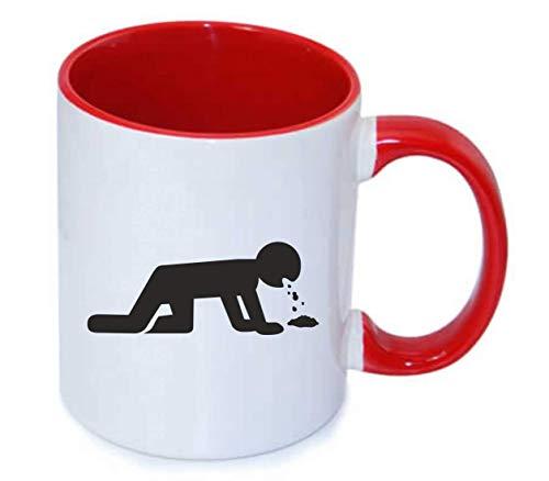 Drucklebnis24 - Taza de café (330 ml, cerámica), diseño d