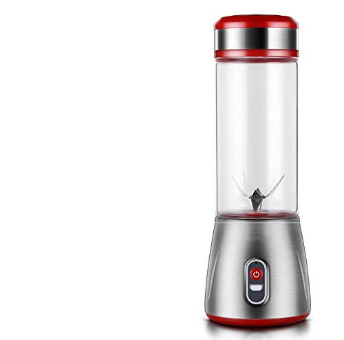 FPXNBONE Vaso Individuales para Fruta,Mini exprimidor USB, licuadora portátil eléctrica-Rojo,Vaso Individuales para Fruta