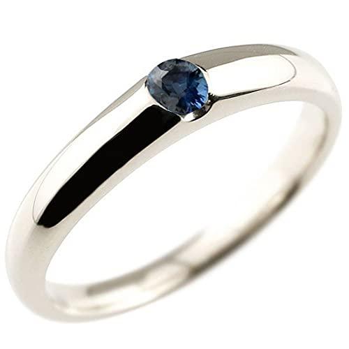 [アトラス]Atrus リング メンズ pt900 プラチナ900 サファイア 指輪 ピンキーリング 9月誕生石 ストレート 宝石 青い宝石 22号