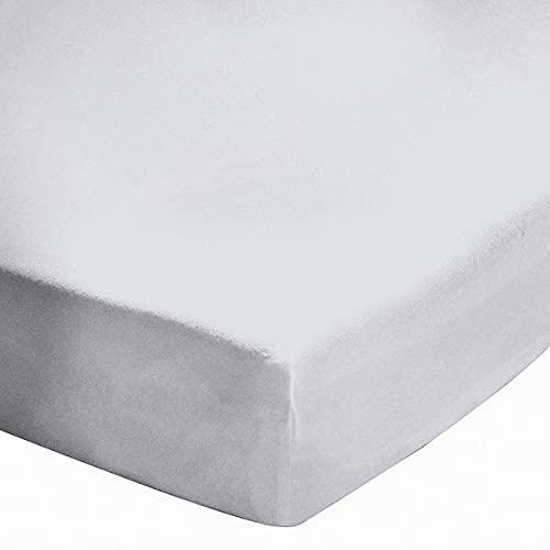 Drap Housse 160X200cm Percale Blanc