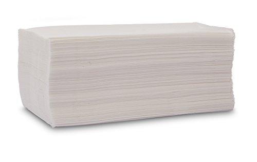 Saten Toalla de Papel de Mano, Celulosa Virgen, plegada en V, 20x23, gofrada, 2 Capas, Blanca, 20 Paquetes de 200 Unidades