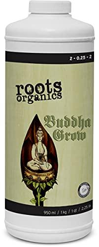 Roots Organics Buddha Grow, 2-0.25-2 NPK, Organic Liquid Fertilizer, Quart