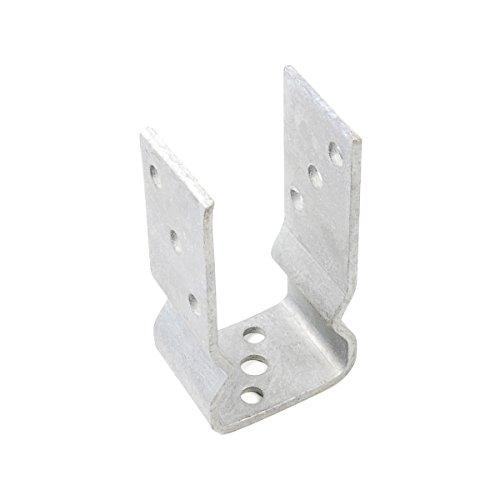 Pfostenträger/Stützschuh U-Form zum aufdübeln - feuerverzinkt - 91 mm