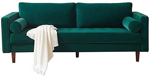 LTTROMAT Mid Century Modern Velvet Upholstered Tufted Living Room Sofa, Futon Bench Loveseat Sectional Couch Sofa, Sleeper Couch, Home Furniture