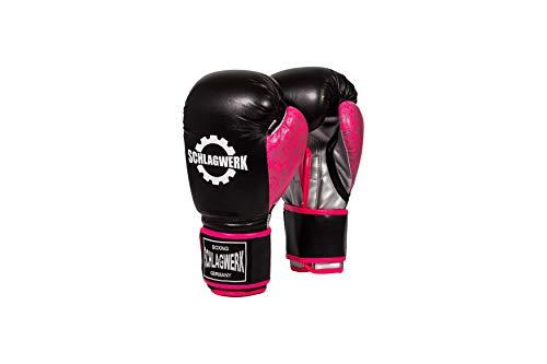 SCHLAGWERK Lady Punch Boxhandschuhe 10 Unzen Medium Spezial für Damen Jugend (Pink, M)
