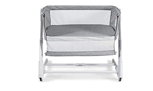 Amazing Deal Grey Child Side Bassinet & Bedside Sleeper w/Washable Mattress Height Adjustable Home C...