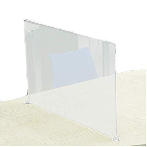 HO.FMA Anti-Spitting Arbeitsplatte Kunststoff Isolation Board Schreibtisch Trennwand BüRotrennwand Schule Niesen Guard Board Aufzug Guard Board (Farbe: Transparent, GrößE: 40x45cm)