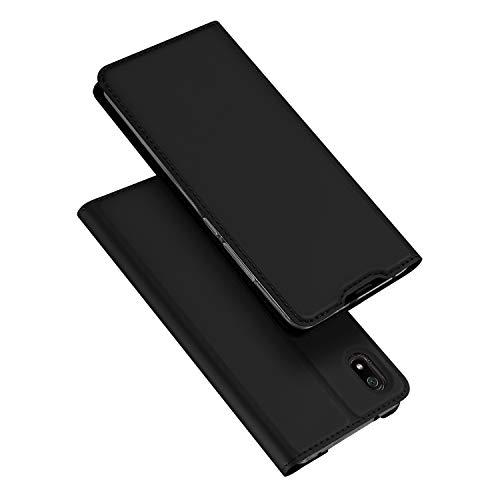 DUX DUCIS Hülle für Xiaomi Redmi 7A, Leder Klappbar Handyhülle Schutzhülle Tasche Hülle mit [Kartenfach] [Standfunktion] [Magnetisch] für Xiaomi Redmi 7A (Schwarz)